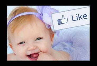 Foto de bebe en Facebook